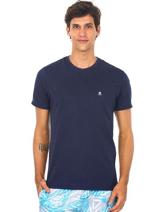 Camiseta Masculina Gc Bordado Areia Polo Wear Azul Escuro G