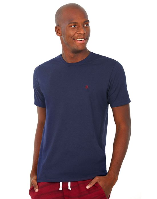 Camiseta Masculina Gc Bordado Bordô Polo Wear Azul Escuro M