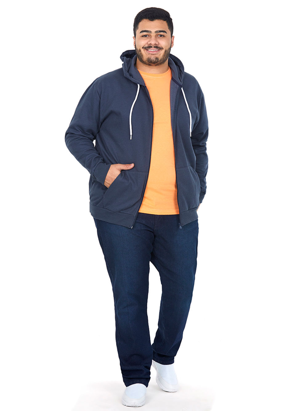 Camiseta Masculina Over Laranja Claro Polo Wear