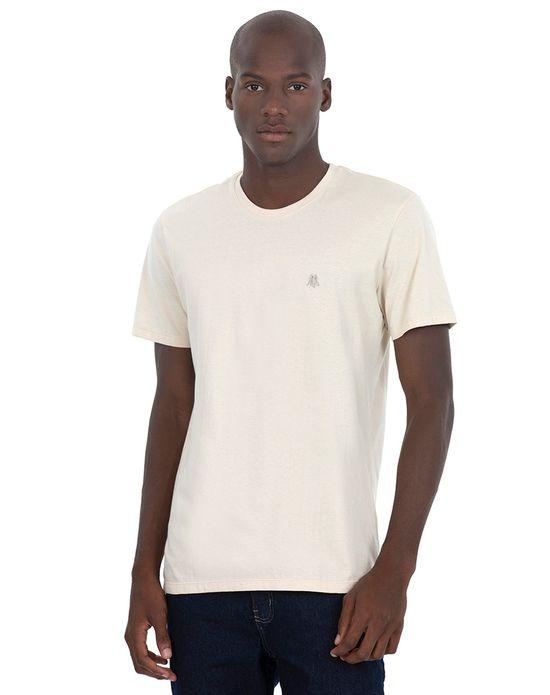 Camiseta Masc Gc Bordado Areia Bege Claro Polo Wear P