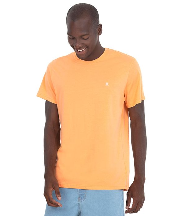 Camiseta Masc Gc Bordado Off White Laranja Claro Polo Wear Laranja claro P