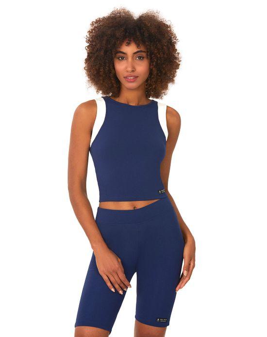 Top Bicolor Nadador Azul Escuro Polo Wear PP