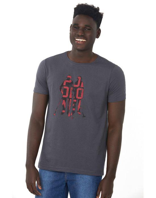 Camiseta Estampada Polo Wear Cinza Escuro P