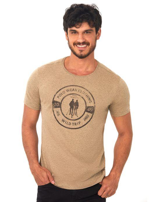 Camiseta Estampada Bege Médio Polo Wear P