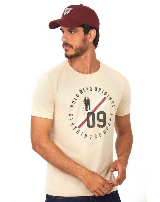 Camiseta Estampada Bege Claro Polo Wear P