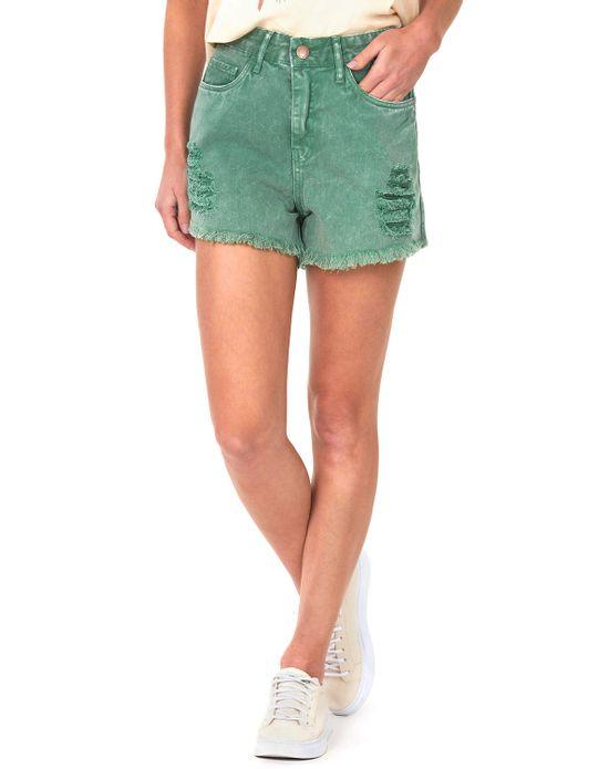 Short Feminino Sarja com Barra Desfiada Verde Claro Polo Wear 36