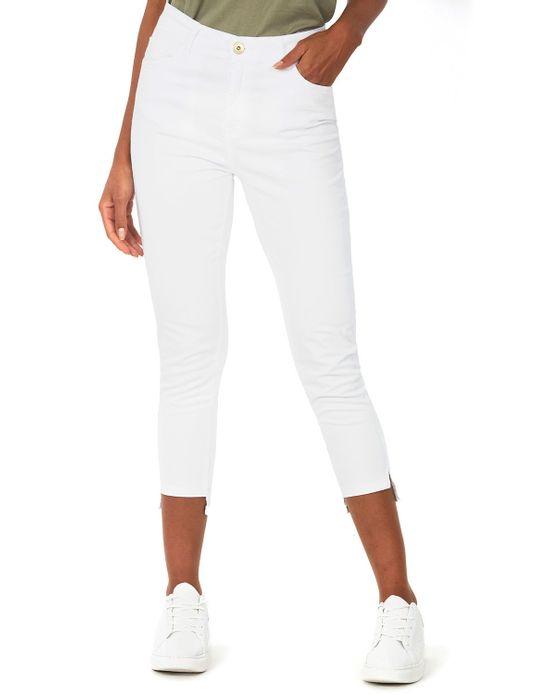 Calça Feminina Sarja Cropped Branca Polo Wear 36