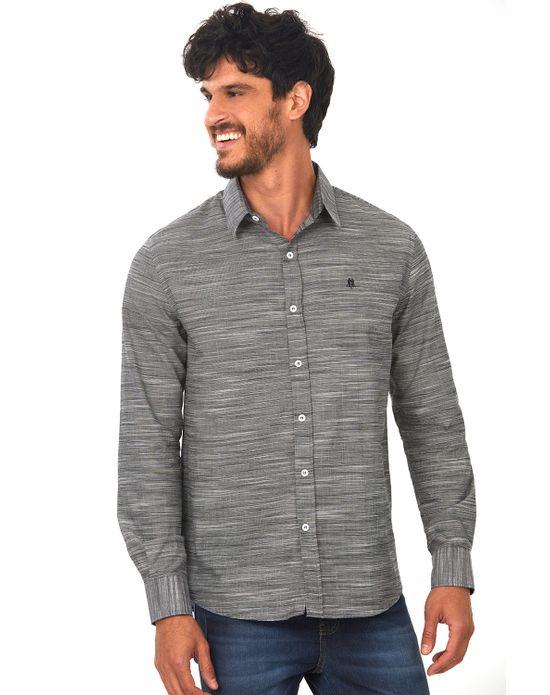 Camisa Masculina Cinza Médio Polo Wear 02