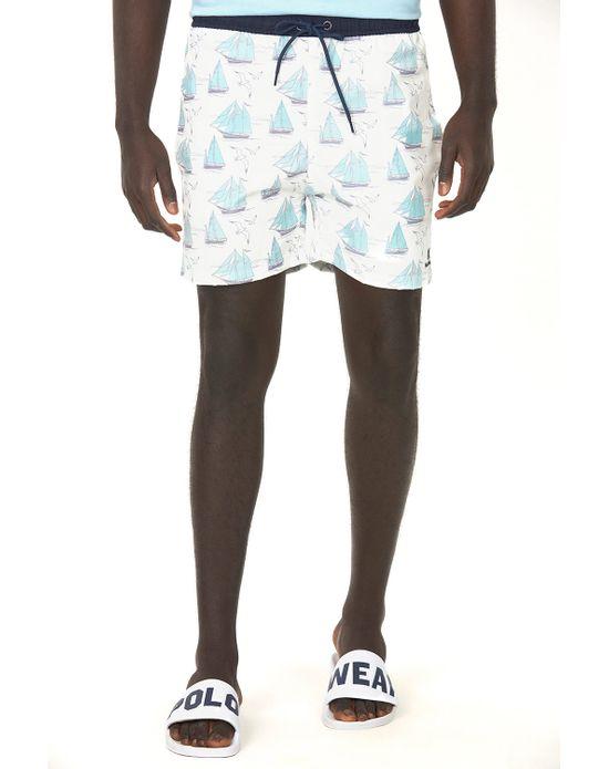 Short Vôlei Masculino Tela Urban Branco Polo Wear P