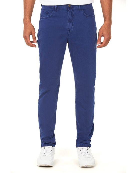 Calça Masculina Sarja Costura Tripla Azul Médio Polo Wear 38