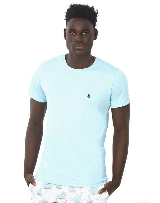 Camiseta Masculina Azul Claro Polo Wear P