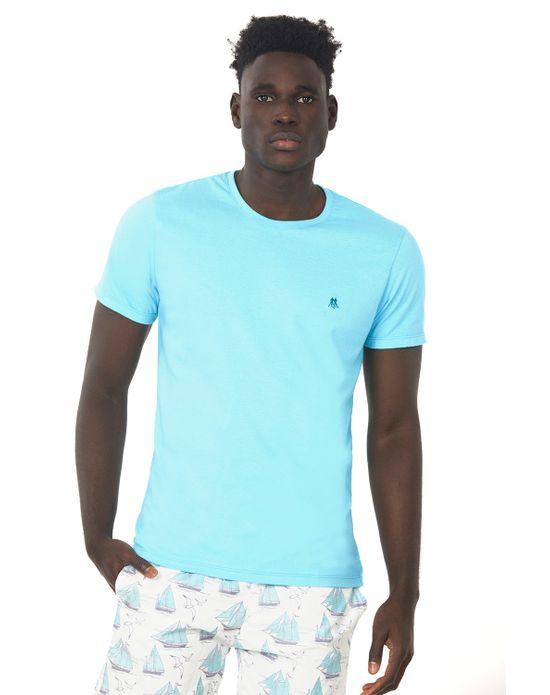 Camiseta Masculina Gc Bordado Azul Claro Polo Wear P