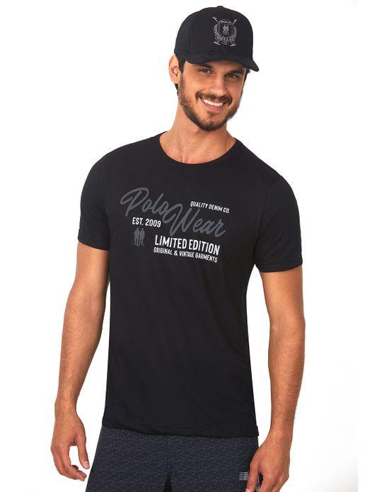 Camiseta Estampada Preto Polo Wear P