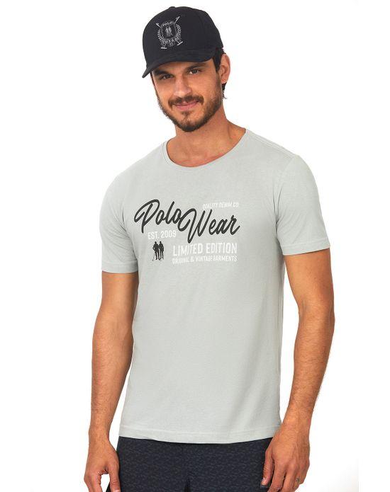 Camiseta Estampada Cinza Claro Polo Wear P