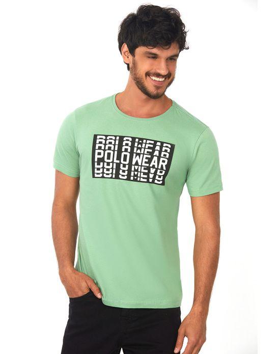 Camiseta Estampada Verde Médio Polo Wear P