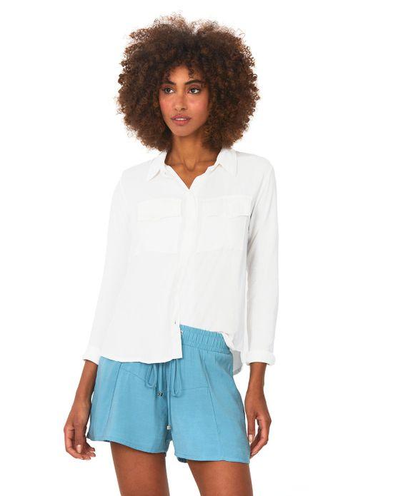 Camisa Bolsos Polo Wear Off White PP