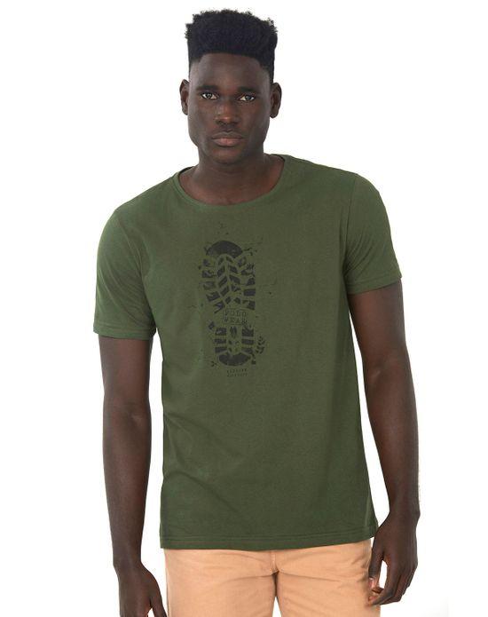 Camiseta Estampada Verde Escuro Polo Wear P
