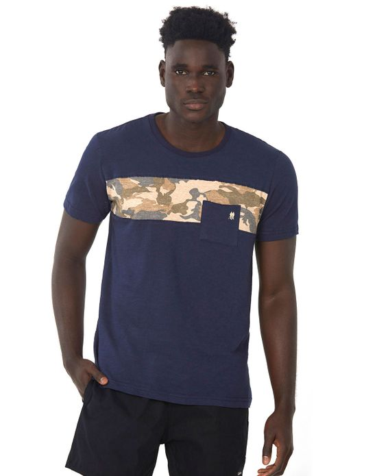 Camiseta Especial Bolso Polo Wear Mescla Escuro P