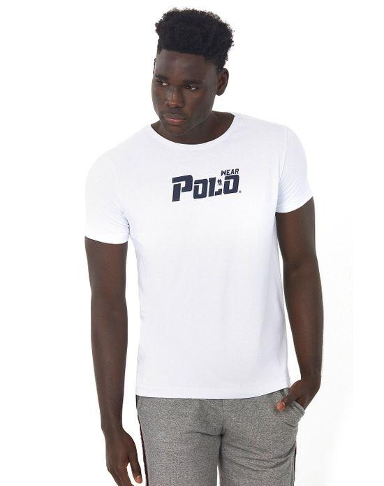 Camiseta Estampada Branco Polo Wear P