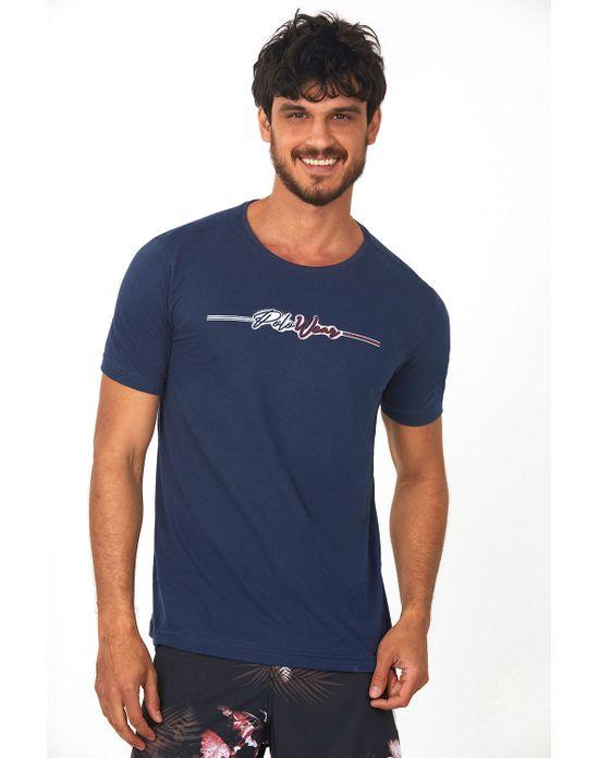Camiseta Estampada Azul Escuro Polo Wear P