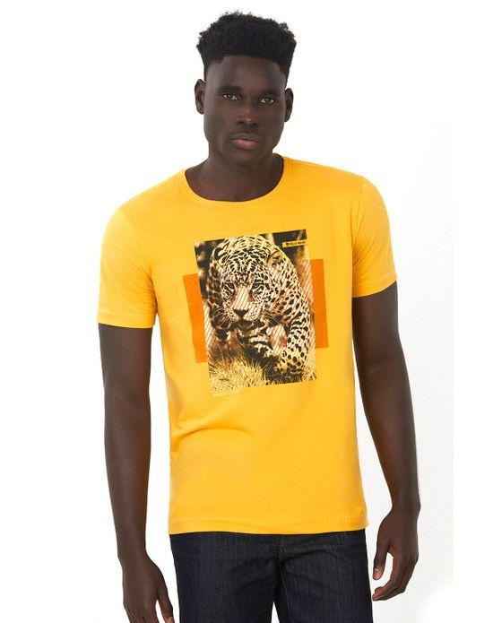 Camiseta Estampada Bege Escuro Polo Wear P