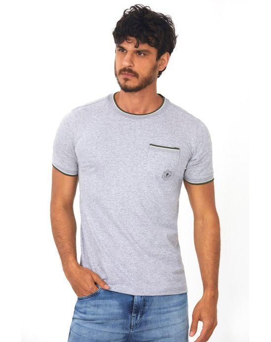 Camiseta com Bolso Mescla Médio Polo Wear P