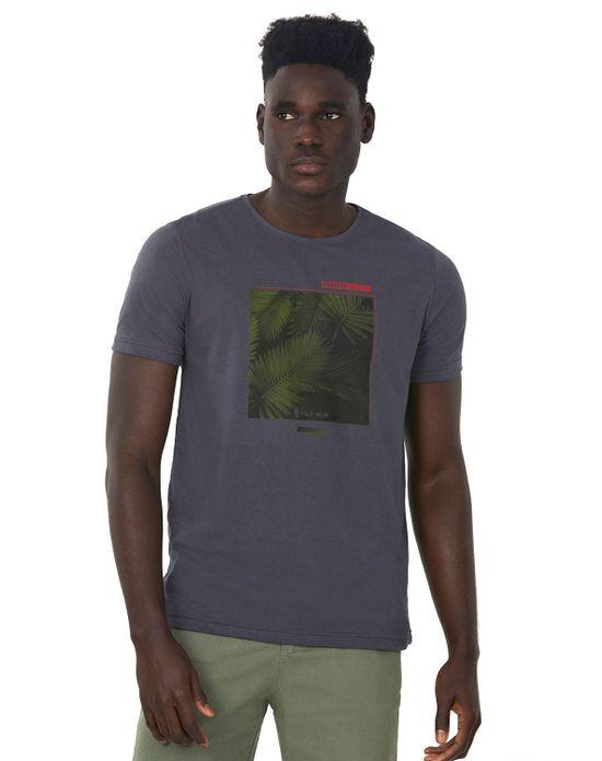 Camiseta Estampada Cinza Escuro Polo Wear P